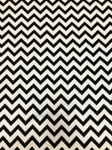 Cotton Fabric None Stretch W/Gold Lurex Chevron Design