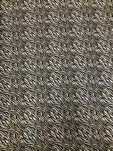 Cotton None Stretch Light Weight with Gold Lurex Zebra Design
