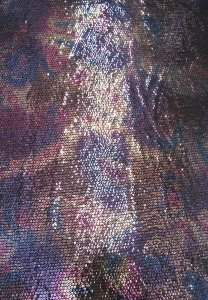 Polyester 2 Way Spandex with 5 mm Geometric Sequins Design