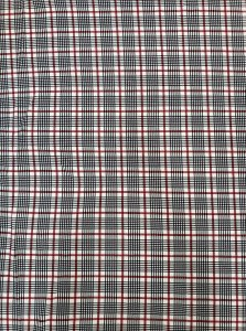 Polyester Spandex 2 ways Stretch Medium Weight Techno Plaid Design