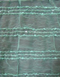 Polyester Crinkle Mesh with 5 mm Clear Sequins