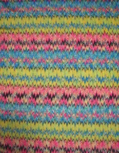 Polyester Knitting Chevron Design
