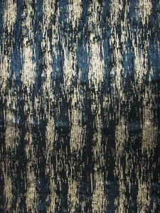 Polyester Spandex Single Span Gold and Black Foil Abstract Design