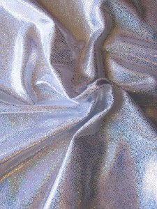 Nylon Spandex Hologram Foil Shattered Glass Design