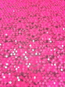 Neon Floral Spandex Lace with 6mm Sequins 2 ways Stretch