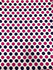 "Cotton Fabric None Stretch W/1"" Inch Polka Dots"