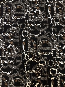 Polyester Spandex Textured 2 ways Stretch Liverpool Animal Print Design