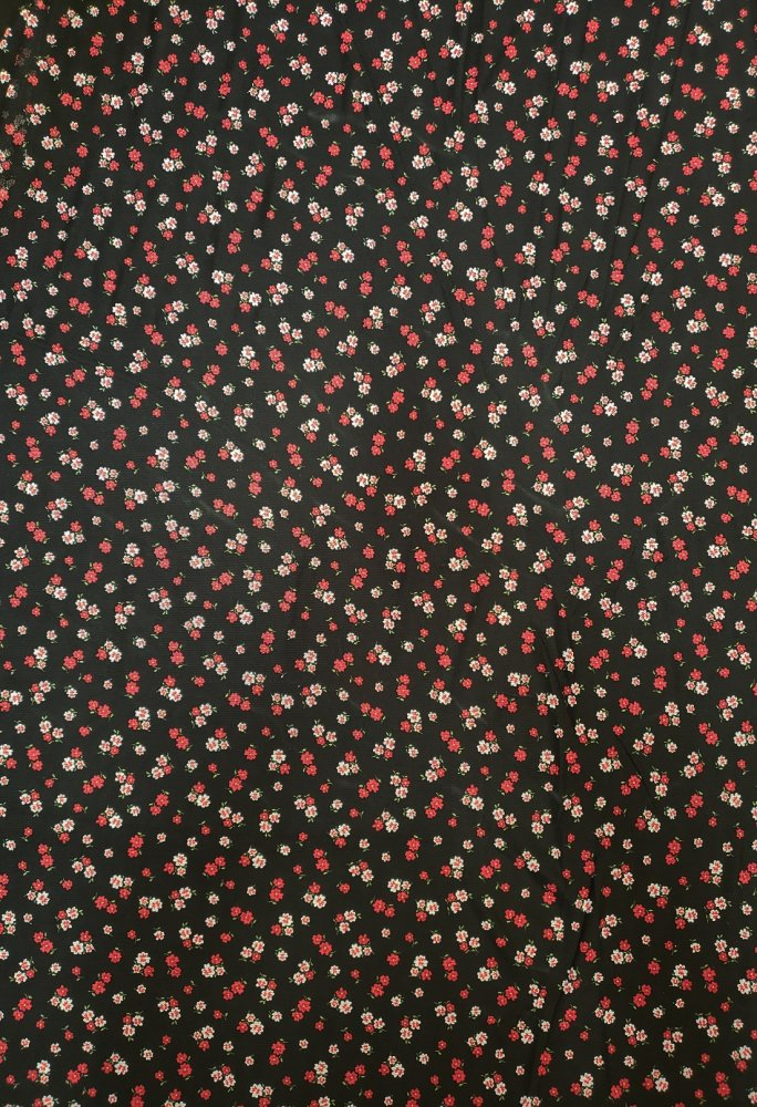 Polyester Spandex See Through Mesh Small Floral Design