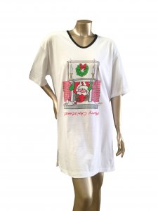 Animated Sleepshirt or Beach Cover-Up w/Side Slits & Matte Studs 100%Cotton