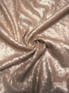 Polyester 2 way Stretch with 3 mm Dull Sequins