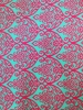 Polyester Spandex ITY Matte Jersey 2 Way Stretch Big Damask Design