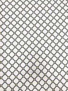 Cotton Fabric None Stretch with Gold Lurex Lattice Design
