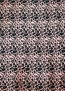 Polyester Brushed Single Spun 2 ways Stretch Light Weight Cheetah Design