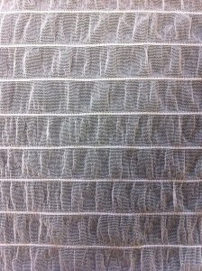 Polyester Mesh with 1 inch stripe stitches