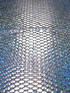 Nylon Spandex Hologram Foil Mermaid Scales Design