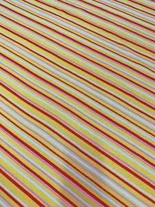 Polyester Knit with Textured Velvet Diagonal Stripes Fabric