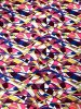 Polyester Venezia 2 ways Stretch Multi Color Abstract Design