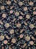 Polyester Venezia 2 ways Stretch Paisley & Floral Design W/Blue Background