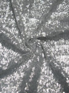 Nylon Mesh with 3 mm Over Lapping Dull Sequins