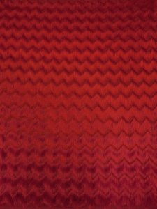 Polyester Open Knit Fabric with 3 inch Zig Zag Fringe Design