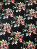 Polyester ITY Matte Jersey 2 ways Stretch Floral Design w/Dark Navy Background