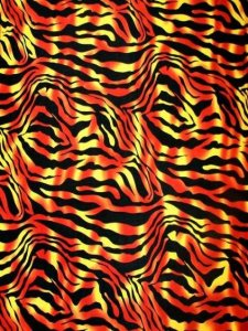 Polyester Single Spandex 2 ways Stretch Zebra Design