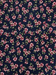 Polyester Spandex 2 ways Stretch Light Weight Floral Design