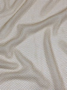 Polyester None Stretch Gold Mesh 4mm Holes with Gold Lurex