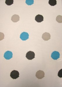 Chiffon Polka Dots Print See Through Light Weight Fabric