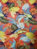 Polyester Venezia Spandex 2 ways Stretch Light Weight Big Tropical Leaves Design