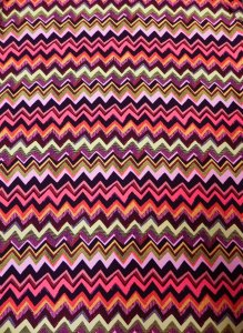 Polyester None Stretch Peach-skin Chevron Design