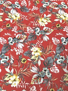 Polyester Spandex Medium Weight 2 ways Stretch Techno Big Floral Fabric Design