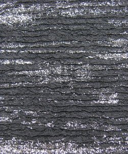 Polyester Spandex Fukuro Jaquard Textured Knit with Silver Foil