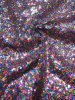Nylon Mesh with Over Lapping 3 mm Shiny Sequins
