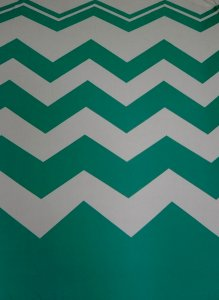 Polyester BuLgari Slub 2 ways Stretch Light Weight Big Chevron Print