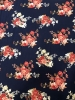 Polyester Spandex 2 ways Stretch Medium Weight Techno Crepe Floral Print Design_ By the Piece 4 yards each