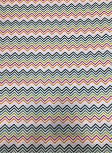 Cotton Fabric None Stretch Chevron Design