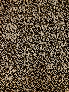 Cotton None Stretch Gold Lurex Zebra Design