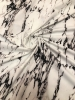 Nylon Spandex 4 ways Stretch Heavy Weight White Marble Design