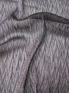 Polyester Jacquard Mesh with Silver Lurex