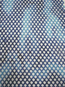 Polyester Spandex Fishnet Diamond Mesh Multi Color Tie Dye Silver Glitters