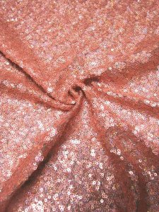Nylon Mesh with Over Lapping 3 mm Hologram Sequins
