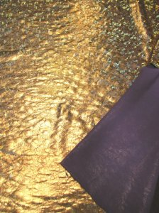 Polyester Spandex Single Span All Over Foil Design