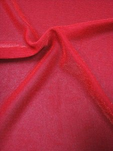 Polyester Glisenet Mesh with Red Lurex