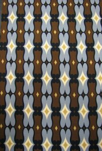 Polyester Spandex ITY Matte Jersey Geometric Design
