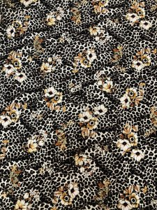 Polyester Spandex 2 ways Stretch Textured Liverpool Fabric Animal & Floral Print