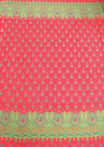 Polyester Chiffon Border Geometric Design