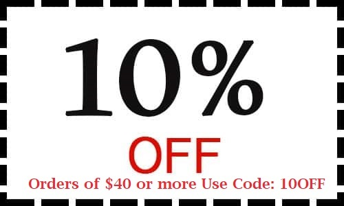 10% Off Orders of $40 or more Use Code: 10OFF