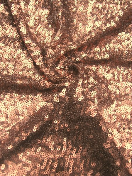 Nylon Mesh with Over Lapping 3 mm Dull Sequins